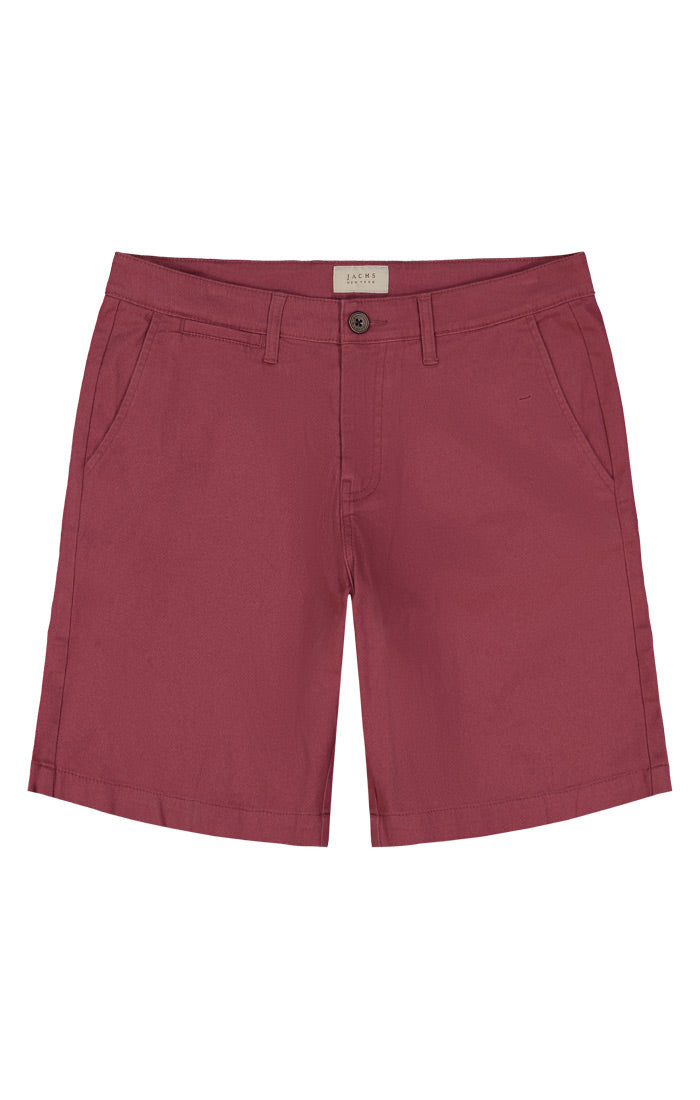 Red Twill Chino Short - jachs
