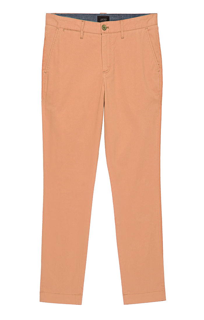 Salmon Bowie Fit Stretch Cotton Chino