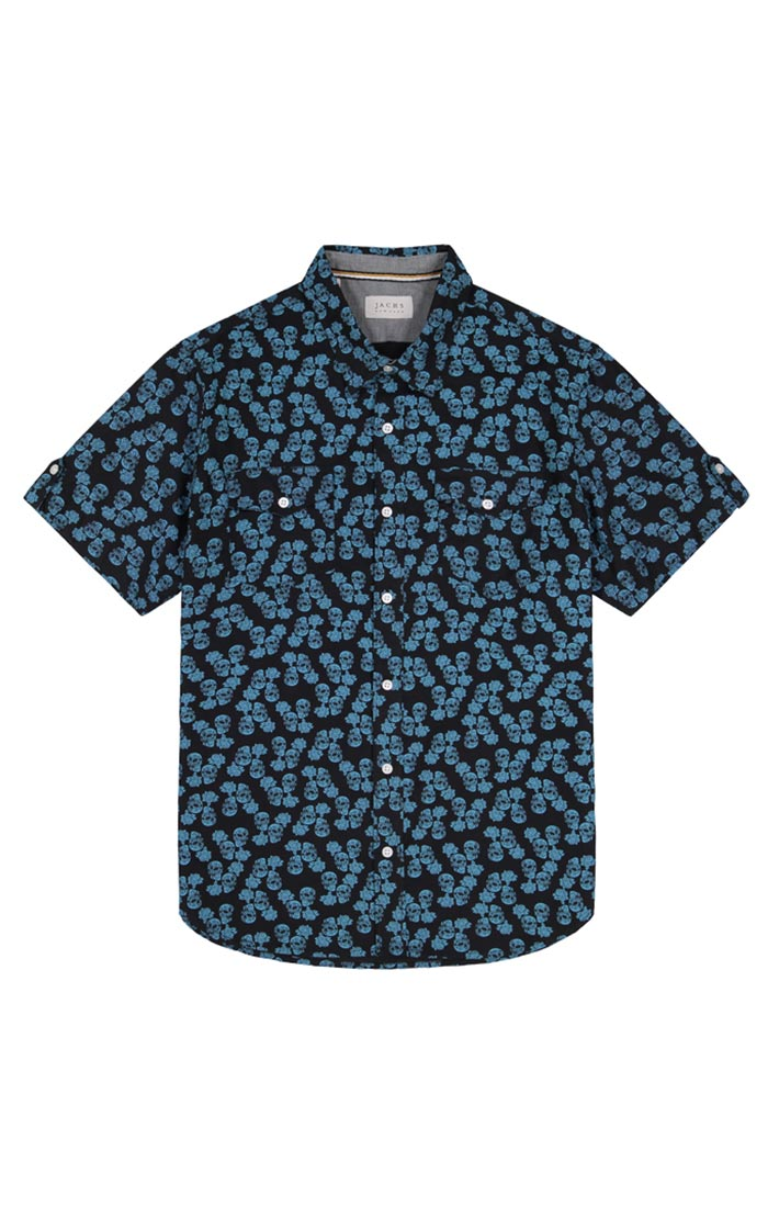 Skull Print Short Sleeve Shirt