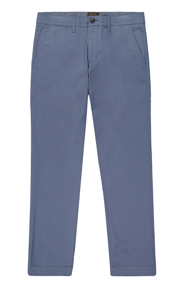 Slate Blue Straight Fit Stretch Bowie Chino - jachs