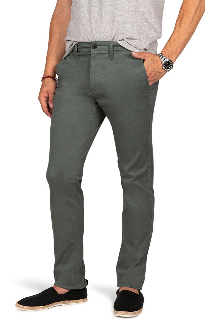 Spruce Green Bowie Stretch Slim Chino Pant - jachs