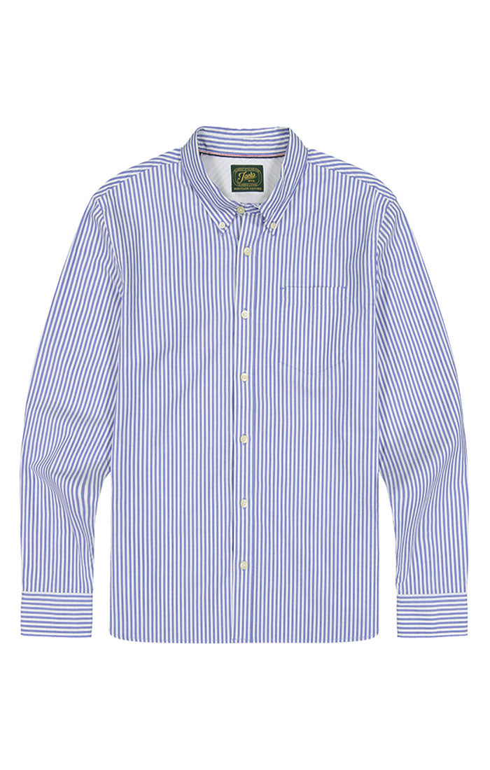 Striped Stretch Oxford Shirt - jachs