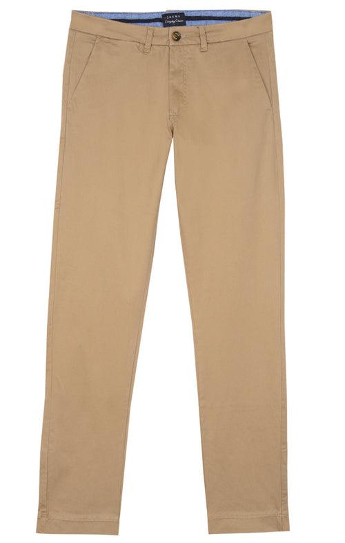 Tan Bowie Stretch Chino Pant - jachs