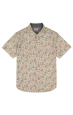 Green Diamond Stretch Short Sleeve Shirt