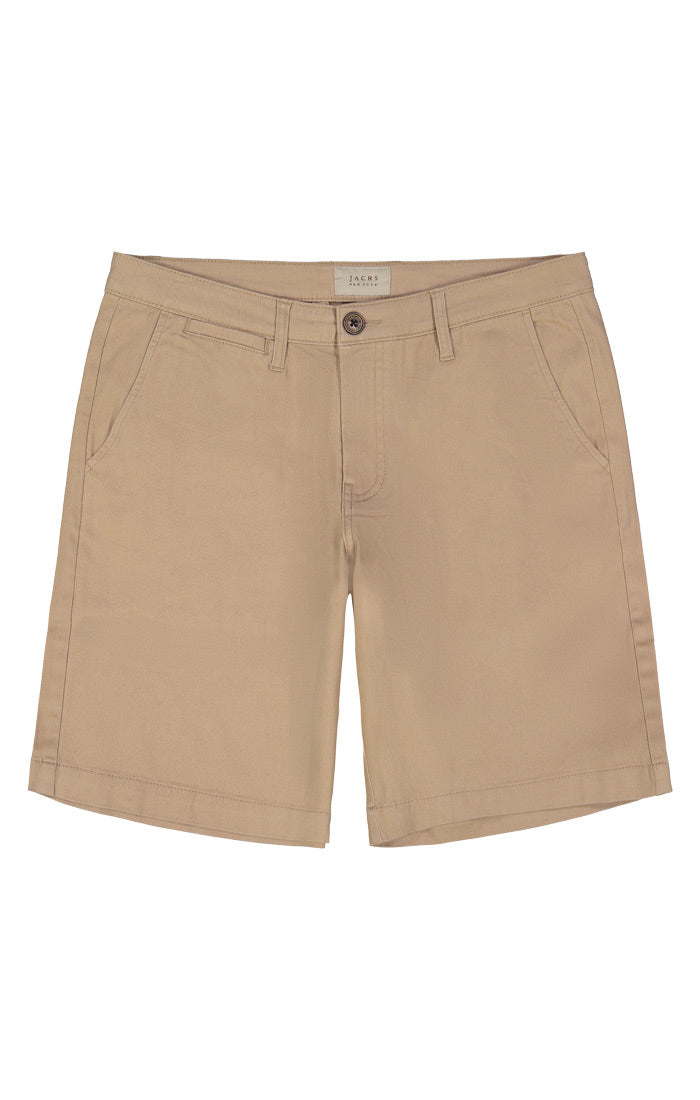 Tan Stretch Twill Chino Short