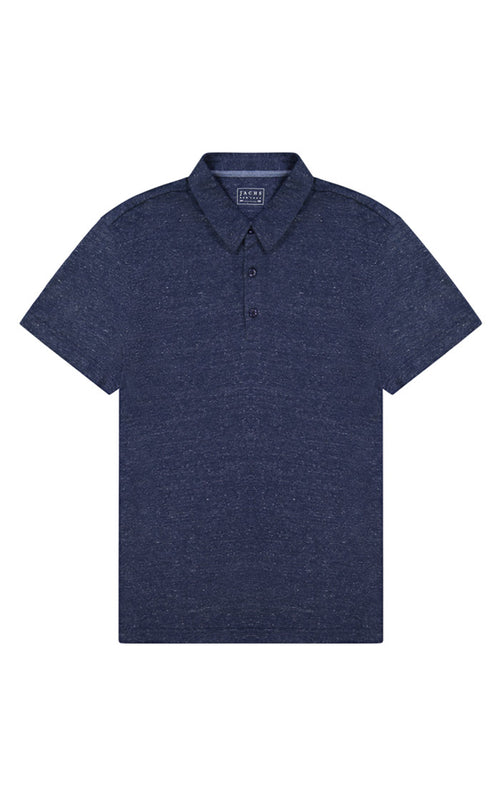 Indigo Stretch Linen TriBlend Polo