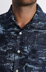 Tropic Print Short Sleeve Shirt - jachs