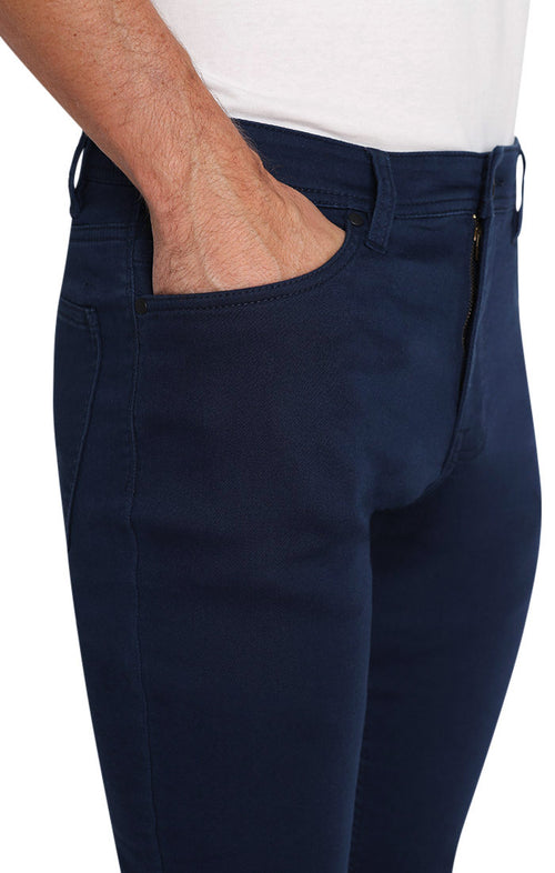 Navy Stretch Traveler 5 Pocket Pant - jachs