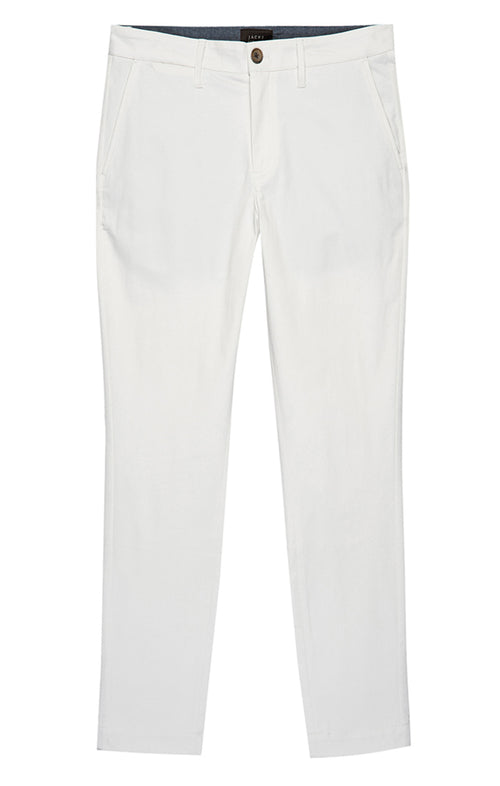 White Bowie Stretch Chino Pant