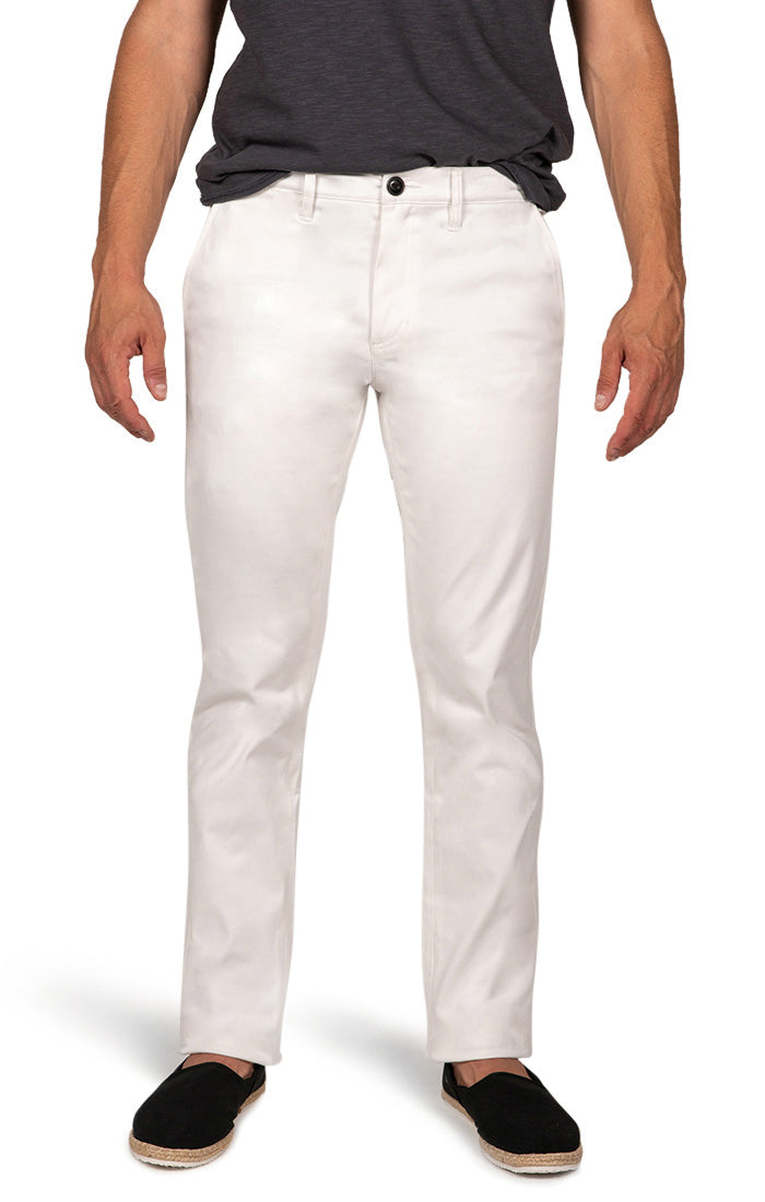 White Straight Fit Stretch Bowie Chino - jachs