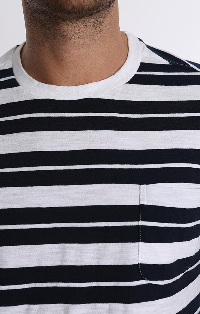 White Stripe Pocket Tee - jachs
