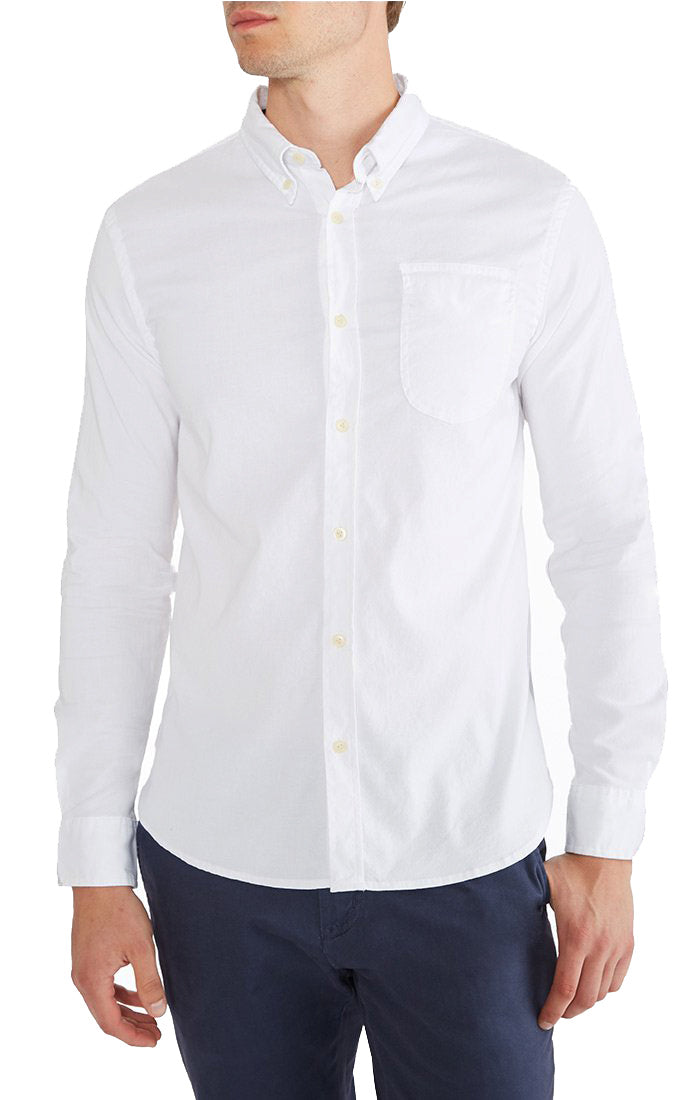 White Brushed Oxford Shirt