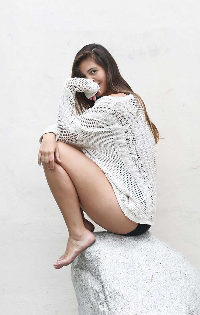 Crochet High Low Sweater