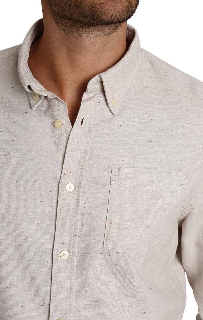 Ivory Donegal Oxford Shirt - jachs
