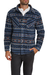 Aztec Sherpa Polar Fleece Shirt Jacket