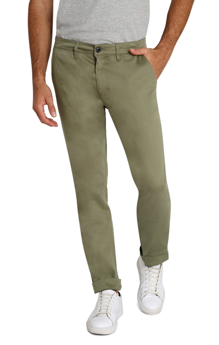 Olive Bowie Stretch Chino Pant