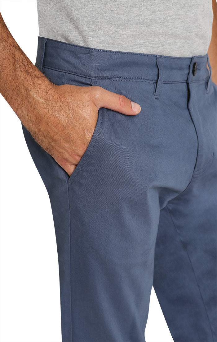 Slate Blue Bowie Stretch Straight Chino Pant - jachs