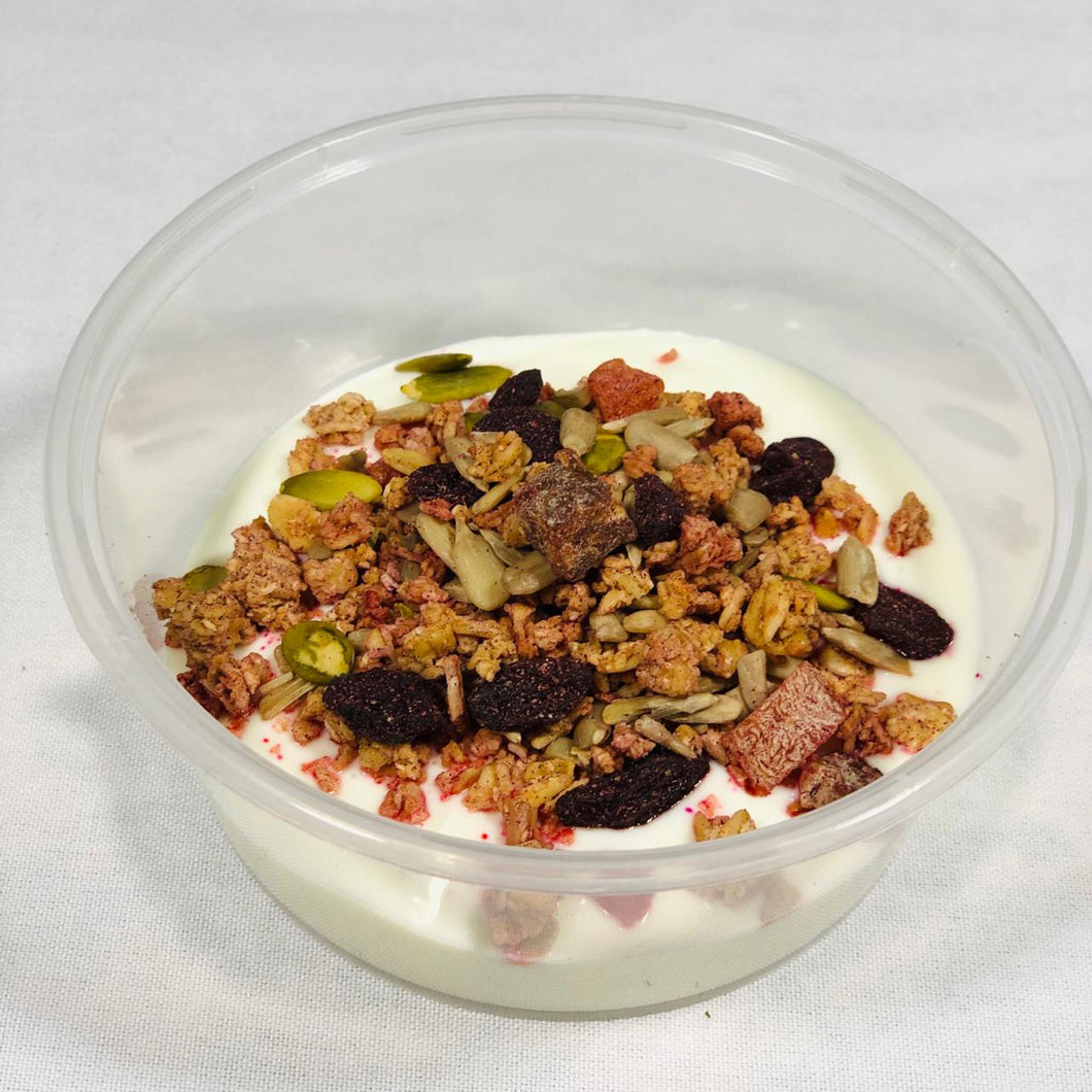Breakfast - Greek Yoghurt with Cinammon & Raisin Granola-diet meals Peterborough-meal prep Peterborough-Eat Prepped
