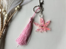 Load image into Gallery viewer, Pink leaf keychain