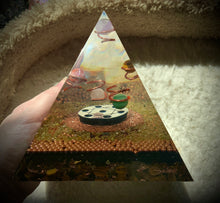 Load image into Gallery viewer, Tourmaline Disc Orgonite Pyramid