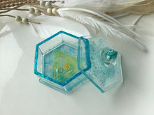 Load image into Gallery viewer, Teal trinket box