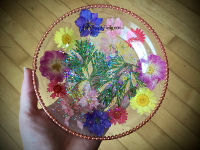 Copper Flower Plate