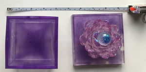 Purple Square Lotus Box