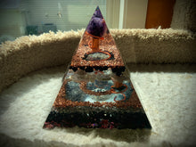 Load image into Gallery viewer, Amethyst Sphere Orgonite Pyramid