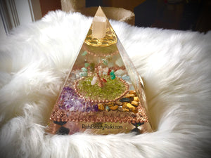 Deluxe Tree of Life Orgonite Pyramid