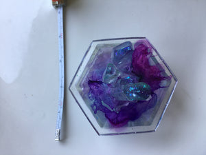 Purple/Blue Swirl Crystal Box