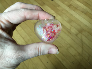 Pink Heart Rose Quartz Orgonite Pendant Necklace