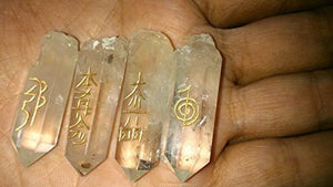 Powerful Natural Crystal Quartz Point Usui Reiki Healing Set Chakra Balancing Meditation Gemstone Spiritual Energized Positive Mental Peace Prosperity Growth Bonding Relationship De-stress Anxiety Reduction Massage Crystal Therapy Psychic Gift Anniversary