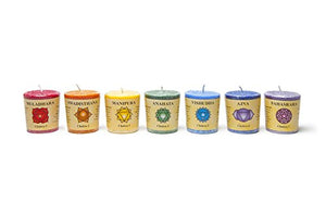 Gift set of 7 Chakra Stearin Votive Fragrance Candles