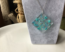 Load image into Gallery viewer, Turquoise Orgonite Pendant Necklace