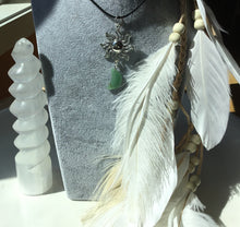 Load image into Gallery viewer, Aventurine sun/moon necklace