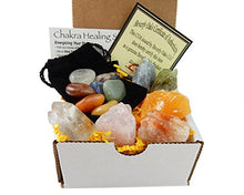 Load image into Gallery viewer, Chakra Mineral Starter Set/Crystal Healing Kit ~ 6 Colorful Mineral Stones Plus 7 Chakra Tumbled Gemstones, Spiritual Metaphysical, Reiki, Chakra, Healing, Bohemian, Natural