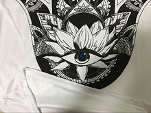 Load image into Gallery viewer, Women's Lotus Eye Print Summer Short Sleeve Cotton T Shirt Tops (M)