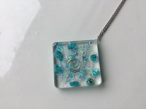 Turquoise Orgonite Pendant Necklace