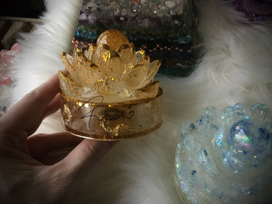 Small Gold Lotus container