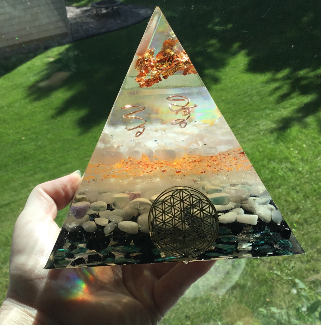Copper Orgonite Pyramid