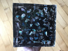 Load image into Gallery viewer, Tourmaline single Orgonite Pyramid