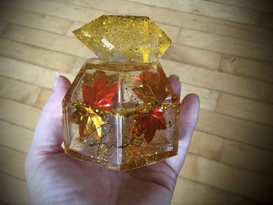 Autumn Crystal Hexagon jar