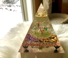 Load image into Gallery viewer, Deluxe Tree of Life Orgonite Pyramid