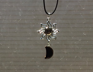 Tiger Eye sun/moon necklace