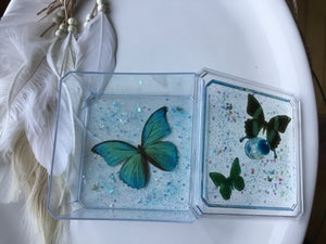 Blue Butterfly Xtra Large Trinket Box