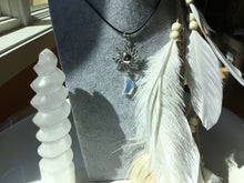 Load image into Gallery viewer, Opalite sun/moon necklace