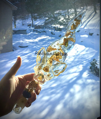 Deluxe Gold Bast Athame/Ice Dagger