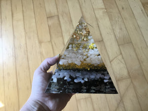 Gold Orgonite Pyramid