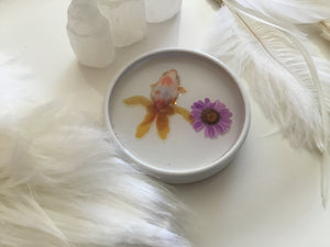 Fish Bowl and flower trinket plate