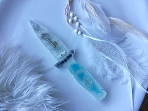 Glow in the dark Miracle Ice Dagger/Athame 9""